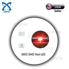 100Pcs 0805 2012 Smd Led Chip Smt Red Light Lamp Diodes Emitting Beads Bulds