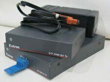 EXTRON DTP HDMI 301 TX RX LONG DISTANCE EXTENDER PAIR TRANSMITTER RECEIVER 100m