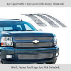 Fits 2007-2013 Chevy Silverado 1500 Upper Lower Stainless Billet Grille Combo