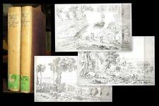 1815 Sizilische Reise Sizilien Italien Duttenhofer Graß 2 Bde 26 Radierungen EA