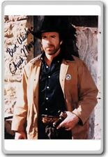 Chuck Norris Autographed Preprint Signed Photo Fridge Magnet