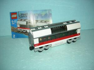 LEGO City Eisenbahn #7897 - ICE Personen-/Mittelwaggon mit Bauanleitung !