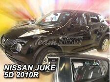 4 Deflettori Aria Antiturbo Nissan Juke 2010 in poi 5 porte
