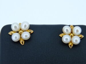 South Sea Pearls 10 CT yellow gold earrings