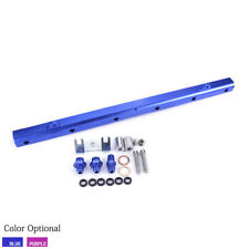 Aluminum High Flow Fuel Injector Rail Kit Blue For Nissan GT-R RB26 Dett Engine