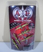 "BATTLE AXE Expandable Curved Sickle 2 Blade 100 Gr 2"" Cut Archery Broadheads 5pk"