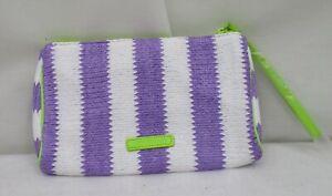 Vera Bradley Striped Wristlet Lilac  Stripe   NWT