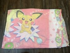 Vintage Pokemon Pocket Monsters Pink Twin Bed Fitted Sheet Rare
