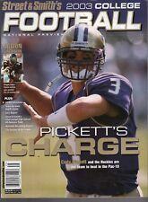 2003 STREET & SMITH COLLEGE FOOTBALL YEARBOOK-CODY PICKETT-WASHINGTON COVER