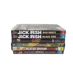 Australian Movies X 6 : RED DOG ,AUSTRALIA ,JACK IRISH Guy Pearce Russel DVD R 4