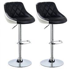2 x Barhocker 2er Set Barstuhl Kustleder Bar Hocker Stühle 2 farbig BH30sz-2