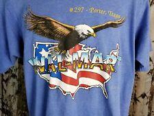 Walmart Porter Texas USA vtg 1990 t shirt Sz L America Eagle Screen Stars 50/50