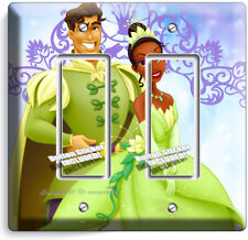 PRINCESS TIANA AND THE FROG PRINCE NAVEEN NEW DOUBLE GFI LIGHT SWITCH WALL PLATE