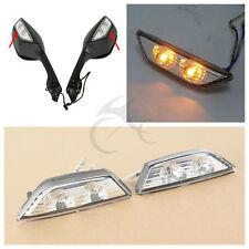 Rearview Mirrors Turn Signal Lights For Kawasaki Ninja ZX10R 2011-2015 2014 2013