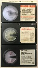 SONY BETA HI-FI Demonstration tape 1983 plus two others