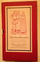 TALES FROM BOCCACCIO, 1947, FIRST EDITION, illustrated by Richard Fontaine