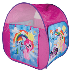 MY LITTLE PONY FOLDABLE POP UP TENT INDOOR / OUTDOOR SUMMER FUN CARRY CASE