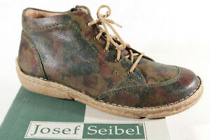 Josef Seibel Ankle Boots Lace up Boots With Rv Green/Multi 85101 New