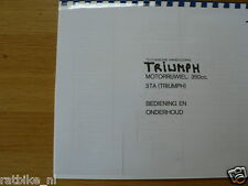 T0003 TRIUMPH---TECHNISCHE HANDLEIDING 350cc 3TA-BEDIENING,ONDERHOUD-MODEL ARMY