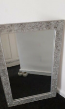 Large crackled glass mirror