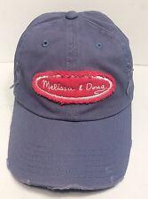Melissa & Doug Distressed Cap Hat Adult Adjustable Belt 100% Cotton Sturdy