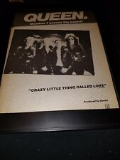 Queen Crazy Little Thing Called Love Rare Original Promo Poster Ad Framed!