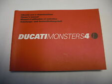 Ducati Fahrerhandbuch Monster S4,  Anleitungs- u. Instandhaltungsheft