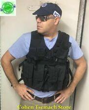 Black Hagor Officer Swat Military Tactical Vest Cordura Combat Harness IDF