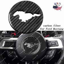 Carbon Fiber Interior Steering Wheel Decor Trim Sticker For Ford Mustang 2017