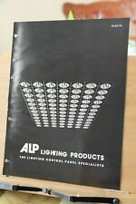 Brochure ALP Lighting Products Chicago IL 1970's Vintage Control Panel DECO