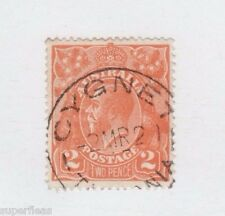 1920 Australia Sc #27a Θ used 2 Pence (a) orange postage stamp. cds Cygnet