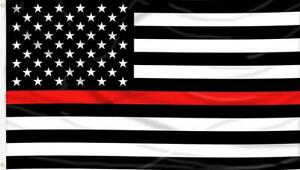 Thin Red Line American Fire Fighter Flag 3' x 5' Fireman EMT EMS Support USA A-6