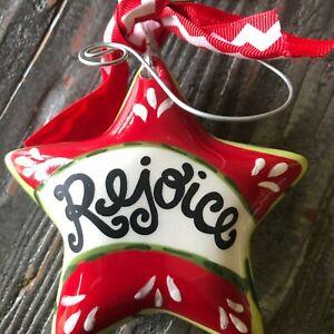 "Glory Haus, Laura Kirkland,  Star ""Rejoice"" New In Box Christmas Ornament!"