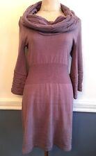 Large Arden B. Lilac Soft Sweater Dress Junior Women's 100% Acrylic  Cowl Neck