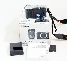 MINT Canon EOS M6 Digital Camera Body Only & All Items Shown