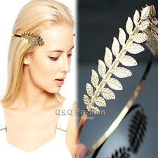 Side Open Leaf Branch Dainty Toga Back Hair Crown Head Dress Alice Band Bridal