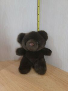 "Russ Vintage Teddy Bear Brownie Plush, Dark Brown Classic Baby Cub 6"" Small Mini"
