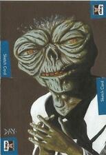 The Lost Worlds of Gerry Anderson Sketch Card drawn by David Day [ Dual Sketch ]