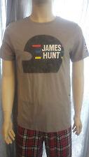 James Hunt Effetto Invecchiato/VINTAGE CASCO T-Shirt. piccolo. R.R.P £ 35