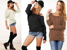 Hüftlange Damenblusen, - Tops & -Shirts aus Baumwolle mit Rundhals-Blusen im