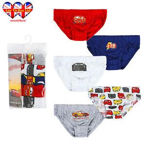 Pack Of 5 Disney Cars kids Pants,Boys Briefs Underwear Age 2-6 Years