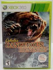 NEW SEALED XBOX 360 Cabela's Dangerous Hunts 2013 Video Game Hunting Adventure
