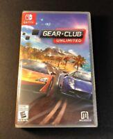 Gear Club Unlimited (Nintendo Switch) NEW