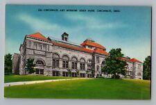 Cincinnati Ohio Art Museum Eden Park Vintage Linen Postcard 1930-45