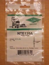 NTE139A ECG139A GEZD-9.1 SK3060 SK9V1 1N3019 1N3678 Zener Diode 9.1V 1W NEW