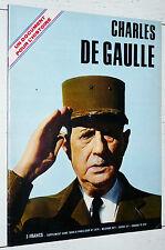 BROCHURE SUPPLEMENT PARIS-JOUR 1970 MORT DU GENERAL CHARLES DE GAULLE BIO PHOTOS