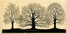 Winter Trees Silhouette IR1046 Stampabilities Rubber Stamp w/m NEW Free Shipping