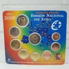 ESPAÑA 2009 CARTERA OFICIAL - 9 VALORES - INCLUYE 2 EUROS EMU