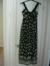 Yumi @ House Of Fraser Butterfly Maxi Dress Fully Lined Size L Fit 14 bnwt