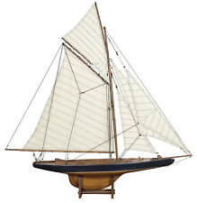 "Columbia 37"" America's Cup 1901 J Class Yacht Wood Sailboat Sail Model New"